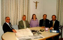 The working group of the society from left to right: A.Stoll, G.Dressler, Chr. Hopp, M.Grohmann, Dr.H.Eisele